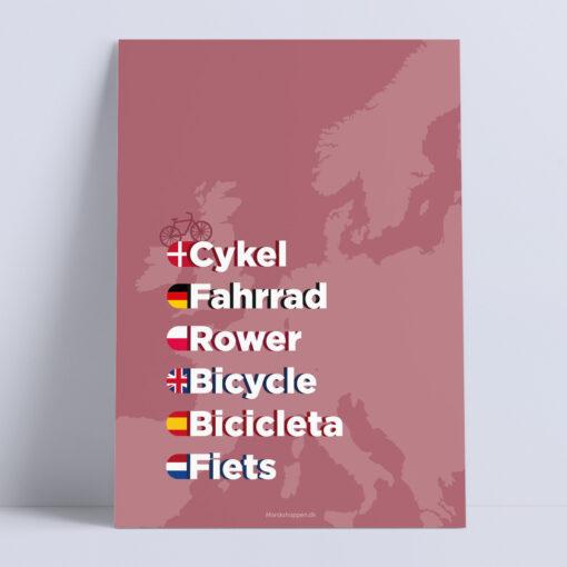 cykel-rosa