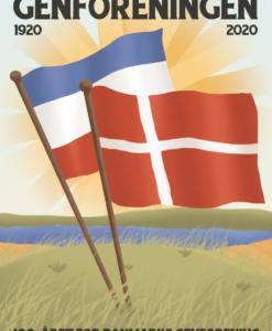 genforeningsplakat flag